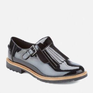 Clarks Grifin Mia NEW Women Black Patent Oxfords